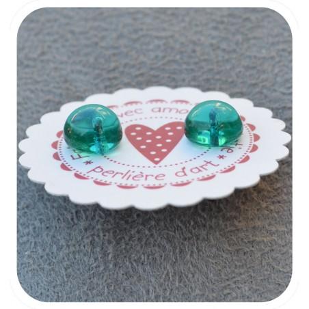 puces d'oreilles verre filé