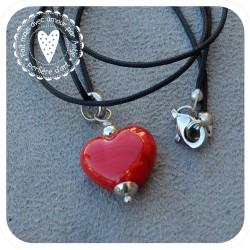 pendentif cœur verre filé