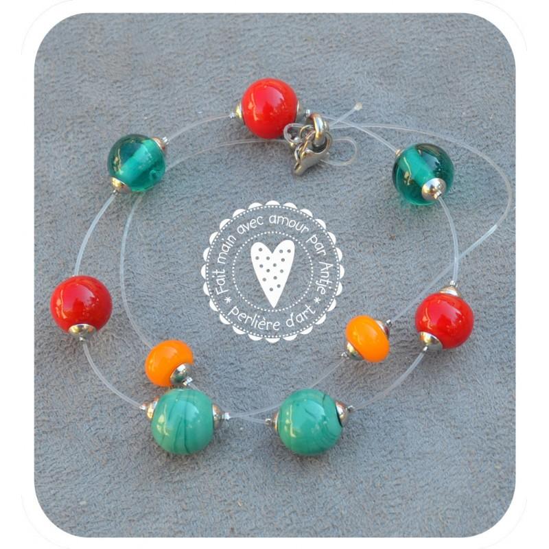 collier perles filés