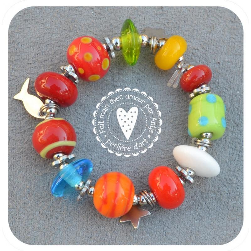 bracelet enfant verre filé_