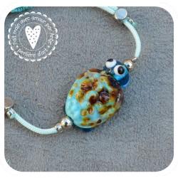 bracelet nœud coulissant verre filé