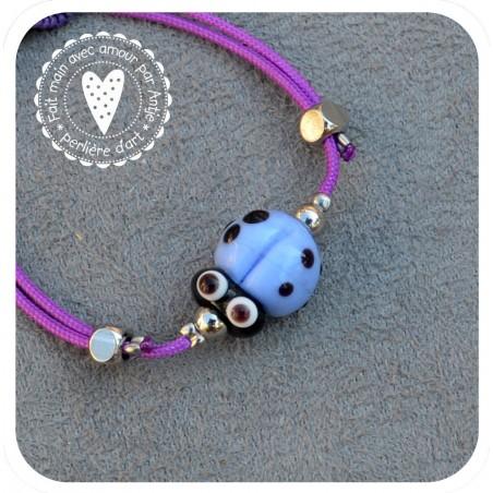 bracelet coccinelle verre filé