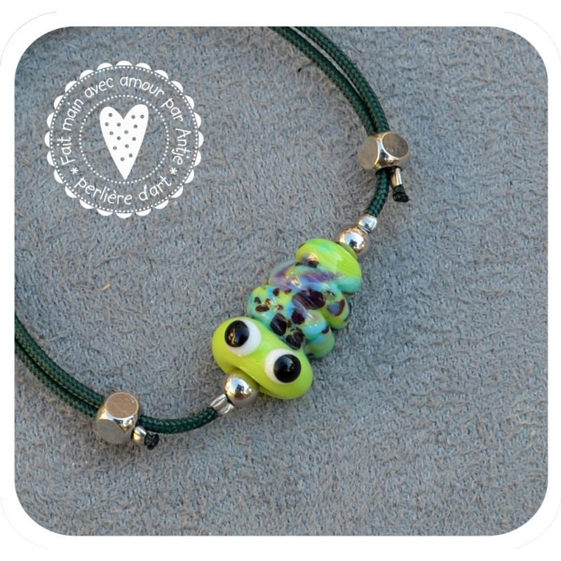 bracelet chenille verre filé